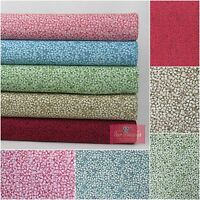 Ditsy Fabric 100% Cotton 5 Colours Available -Blue, Pink, Beige, Green, Burgundy