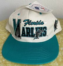 NEW Vintage Florida Marlins 90s Snapback Hat MLB Deadstock New Old Stock NWT