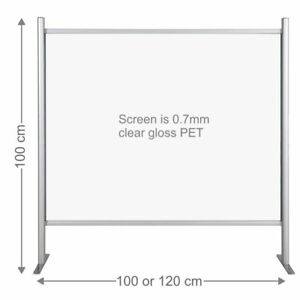 Counter sneeze guard protection barrier clear screen salon reception checkout