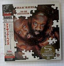 ISAAC HAYES -... To Be Continued Japon SHM MINI LP CD OBI Nouveau UCCO - 9513