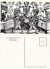 SKELETONS IN A HUBBUB BY JOSE GUADALUPE POSADA UNUSED POSTCARD FROM A PAINTING a