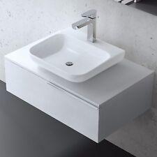 Badmöbel Badezimmer Badezimmermöbel Waschbecken Schrank Set Weiß RAVELLO 800ws