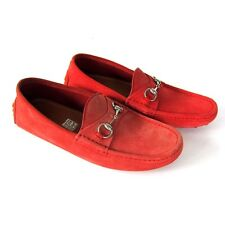 J-2227249 New Gucci  Allium Suede Leather Slip On Loafers Shoes Size US 8.5