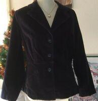 ST. John's Bay Women's Black Corduroy Jacket W Pockets. Size: M.