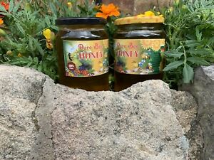100%PURE RAW ORGANIC HONEY 2x1KG- NATURE IN A JAR-HARVESTED SPRING 2021