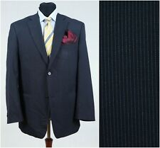 Mens Striped Sports Jacket ATLANT Black Wool Blazer Big SIZE XL, UK 44 Long