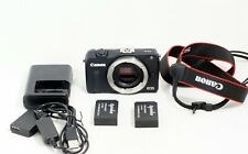 Canon EOS M2 18.0MP Digital Camera Black Body Only and Items Shown