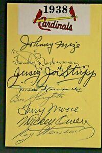 1938 St Louis Cardinals Autographs Multi Signed SLAUGHTER MIZE STRIPP OWEN JSA