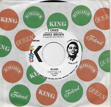 JAMES BROWN  I Cried / World Part 2  rare promo 45 from 1971