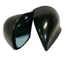 VW LUPO BLACK MANUAL DOOR WING MIRRORS & BASE PLATES - DTM