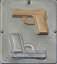 Handgun Semi-Automatic Gun Chocolate Candy Mold 1342 NEW