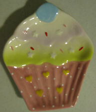 NEW DESIGN CUPCAKE KITCHEN UTENSIL SPOON REST HOLDER STOVE TOP COUNTER