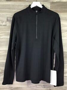 Lululemon Surge Warm 1/2 Zip Size M Black BLK 51639