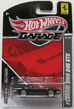 Hot Wheels Garage series FERRARI DINO 246 GTS 4/6 black with REAL RIDERS