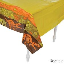 DINOSAUR Dig Plastic Tablecloth PLASTIC TABLE COVER birthday Party DECORATION
