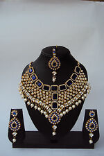 Indian Bollywood Fashion Bridal Jewelry Style Designer Gold Plated Necklace Set