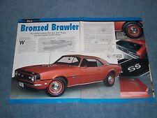 """1968 Camaro SS 396 COPO 9737 Info Article """"Bronzed Brawler"""" Yenko"""