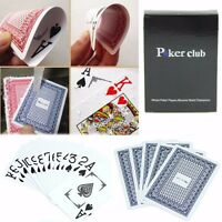 1*Waterproof Poker New Blue 100% PLASTIC Size Playing Cards Washable Texas Poker