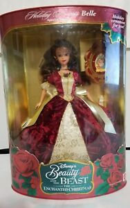 Disney Beauty and the Beast Enchanted Christmas Belle Holiday Princess 1997