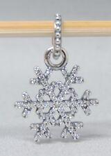 Authentic Pandora Winter Kiss CZ Snowflake Charm/Bead Silver 925 ALE 390354CZ