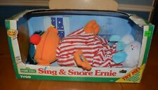 TYCO SESAME STREET LARGE NEW SING & SNORE ERNIE WORKS INCLUDES RARE SLEEP MASK