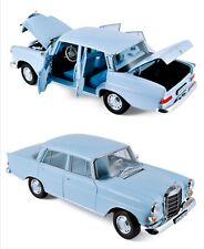 1/18 Norev mercedes benz 200 sedan 1966 light blue neuve livraison domicile