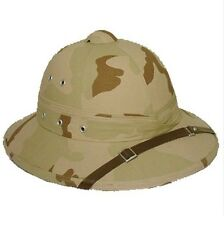 Vintage U.S. Style Pith Safari Jungle Helmet 3-Color Khaki Camo Explorer Hat!