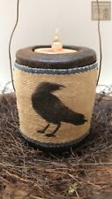 New Primitive//Country Scented Handmade Blackened Beeswax Quilted Heart Ornie
