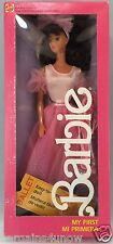 Barbie 1987 My First Barbie Mi Primera Easy To Dress Straight Legs Hair Bow NIB