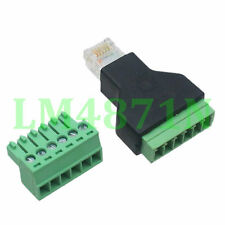 1pce Connector RJ12 6P6C male plug AV Terminal Modular ADSL Telephone Cable End