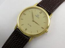 OMEGA de Ville 18K Solid Gold Caballeros Reloj Ajustado Clásico