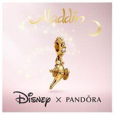 💎Aladdin 2019 GOLD MAGIC LAMP Dangle Disney Charm PANDORA Sterling silver S925