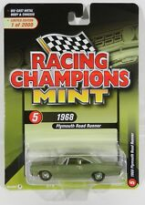 2018 RC 1:64  RACING CHAMPIONS MINT 2A = Green 1968 Plymouth Road Runner NIP