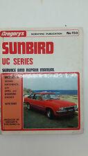 Gregorys SP No 150 Holden Sunbird UC Series 1978 – 1980 Service Repair Manual