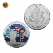 WR 1969-74 Richard M. Nixon Silver Coin Mint Medal 37th U.S. President Souvenirs