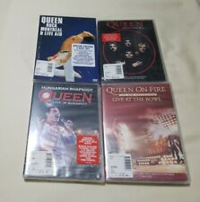 Lot of 4 Queen DVD - Greatest Video Hits live Montreal Budapest The Bowl