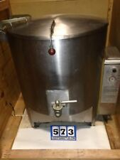 VULCAN 60 GAL. NAT. GAS STEAM KETTLE S/S COVER 1.5 INCH DRAW OFF VALVE, (#573)