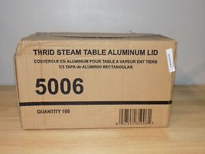 Aluminum Foil Lid For Third-Size 1/3 Steam Table Pan 100PK - Disposable Covers