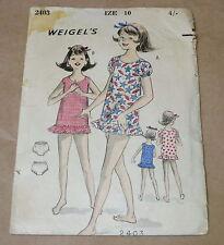 VINTAGE WEIGEL'S GIRLS DRESS PATTERN 1950s 10 YEARS 2403