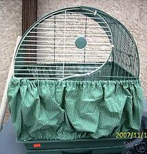 """#1- 30""""-46""""  Birdie Bloomer Seed Catcher Skirt for Cages  color/pattern choice"""