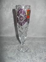 Vase Tischvase aus  Bleikristall - Anna Hütte - Höhe: 18,5 cm