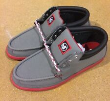 DVS Hunt Grey Gunny Size 7.5 BMX DC Skate Deck Boat Shoes $78 Box Price