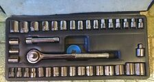 "Standard SAE & Metric 40 Piece Socket Set 3/8"" Drive Ratchet Wrench"