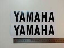 Black Yamaha pair vinyl cut sticker / decals , for fairings etc 225mm X 57mm