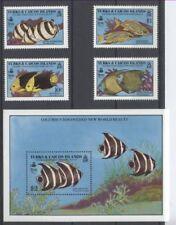 POISSON Turques et Caïque 4 val et 1 bloc ** de 1990 /1