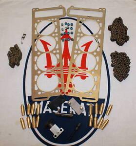 MASERATI BORA QUATTROPORTE 4.7 4.9 ENGINE CHAIN TENSIONER GUIDE HEAD GASKET KIT