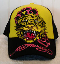 NWT Ed Hardy Yellow Tiger Girls/Youth Adjustable  Hat/Cap Black/Yellow MSRP$28