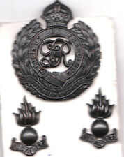 Set of Engineers Hat and Collar Badge Nice Condition