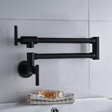 """Geyser 25"""" Pot Filler Faucet Wall Mount Vintage Retractable Double Joint Spout"""