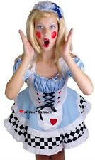 Girls Alice in Wonderland Fancy Dress Costume - M / 8-10-12